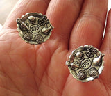 Cufflinks Sterling silver plated charms and components