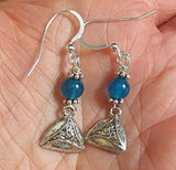 Hamentashen agate earrings