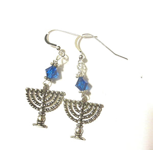 Hanukkah earrings