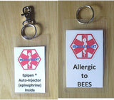 allergy medical alert tag bees