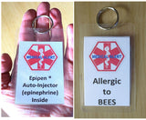 bee allergy medical alert tag
