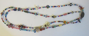 bohemian beaded double stranded necklace