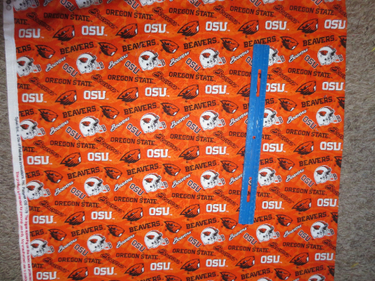 Oregon State University cotton fabric by the half yard NCCA college team Beavers