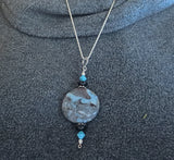 One of a kind gemstone sterling silver pendants