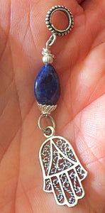 Sterling Silver Hamsa charm pendant euro style 3 style choices