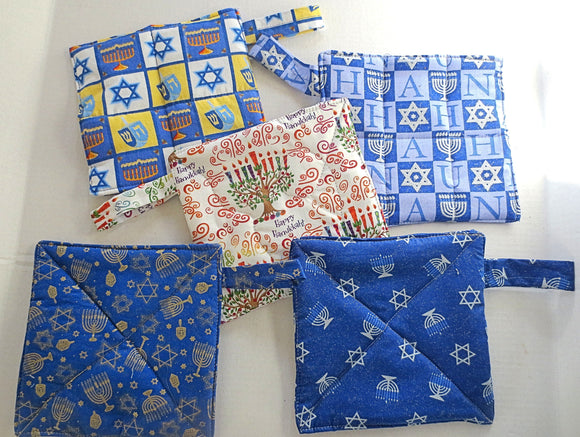 Hanukkah pot holders