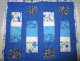 stars of david quilted table runner handmade