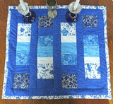 On Sale Judaica quilted padded rectangular table runner double sided Star of Davids Torah Shalom great wedding, engagement gift