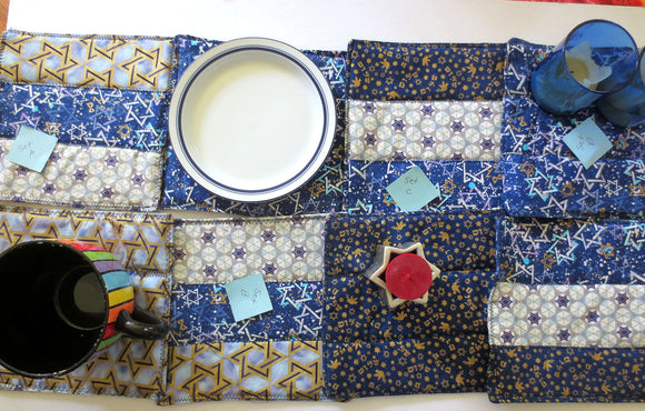 Handmade Judaica mats insulated and reversible