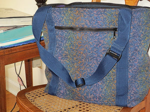 Tapestry tote bag adjustable handles organizing large purse