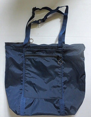 navy blue cloth tote bag