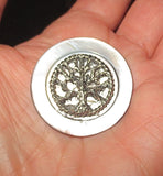 Pin or brooch Judaica charm mother of pearl button