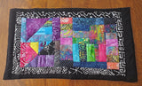 Quilted wall art modern batik geometric hanging stain glass theme