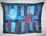 Hamsas quilted batik wall hanging trabunto Hands of Fatima Helping Hands