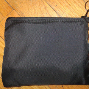 Nylon Zippered pouches in two sizes medium and large  with choice of color and options to add