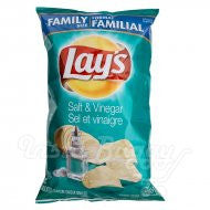 Lays Salt & Vinegar Chips - 255g Bag