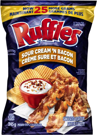Ruffles Sour Cream 'N Bacon - 245g