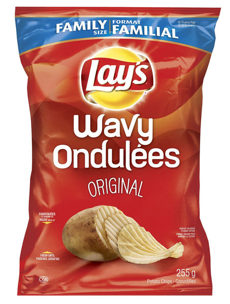 Lays Wavy Original Chips - 255g Bag