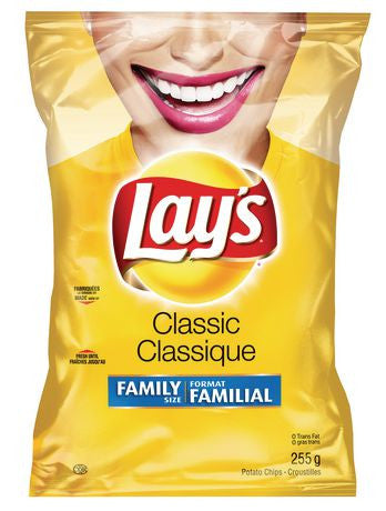 Lays Classic Chips - 255g Bag
