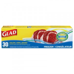 Glad Extra Wide Freezer Bags 30