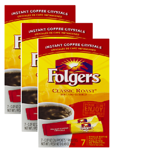 Folgers Instant Crystals ( Single Servings)
