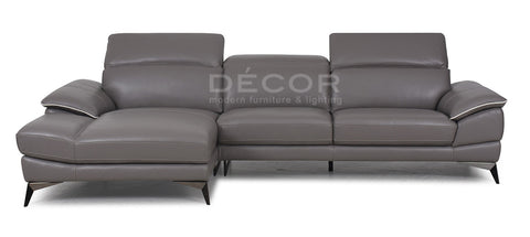 ALAIRE L-SHAPE LEATHER SOFA