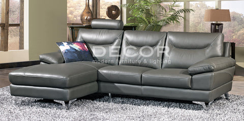 BEACHSIDE L-Shape Leather Sofa