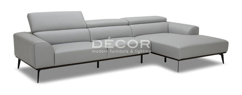 DONATELLA L-Shape Leather Sofa