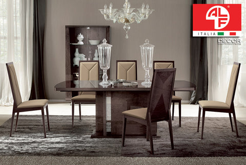 EVA Dining Table and (8pcs) Dining Chair Set - ALF® ITALIA
