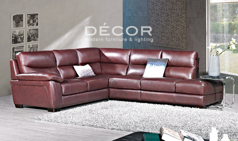 GENEVA L-Shape Leather Sofa