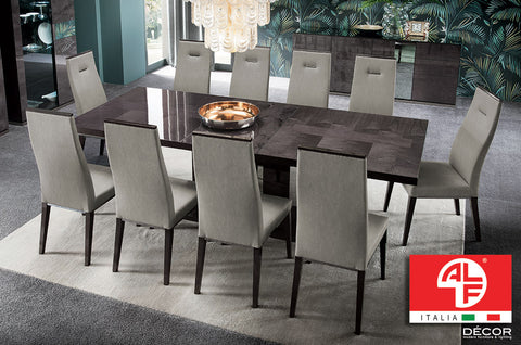 HERITAGE Dining Table - LONG (Extend 2m to 2.5m) and 8pcs Dining Chair Set - ALF® ITALIA