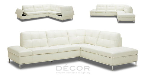 MANZANO L-Shape Leather Sofa