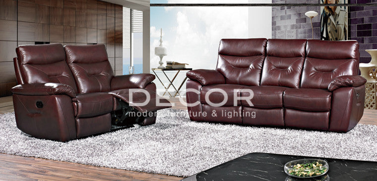 Samson Leather Sofa D 233 Cor Manila