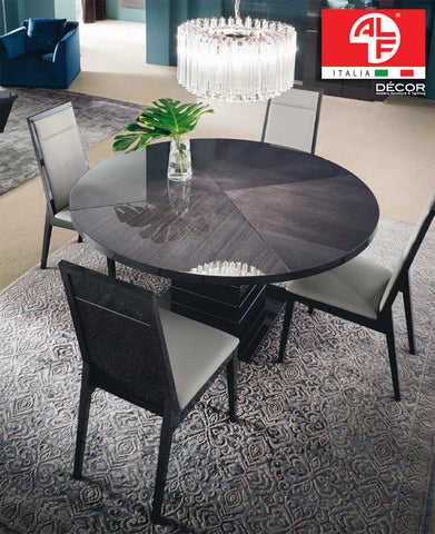 VERSILIA Round Dining Table with 4 Dining Chairs Set - ALF® ITALIA