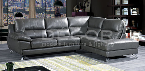 WELLINGTON L-Shape Leather Sofa
