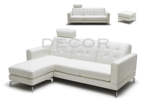 ZURICH Leather Sofa with Ottoman