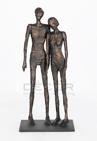 LEANING Couple SCULPTURE