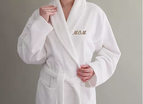 Terry Bathrobe with Kimono Collar