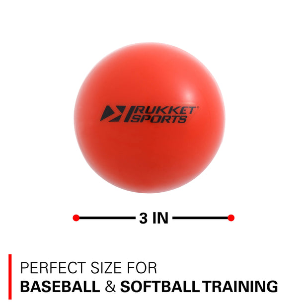 PurePower Baseball / Softball Weighted Hitting & Pitching Training Balls (3 or 9 Pack)