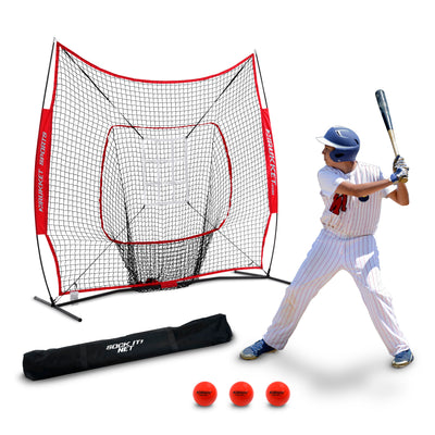 7x7 Sock It! Net PRO With 3 Training Balls & Adjustable Pitching Target