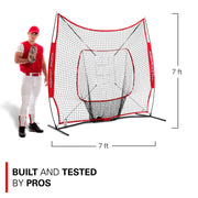 7x7 Sock It Net PRO With 3 Training Balls & Target