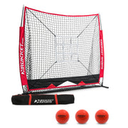 5x5 Baseball / Softball Net w/ 3 Weighted Balls & Strike Zone Target