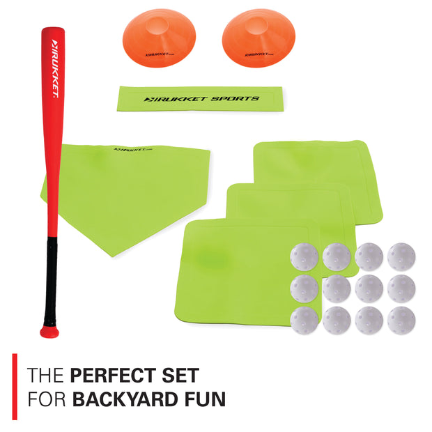 Backyard Baseball Set w/ Bases, Balls, & Cones
