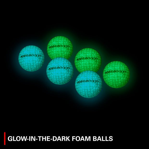 Haack Pro Light-Up Chipping Net with 6 Tru-Spin Glow-in-the-Dark Practice Balls