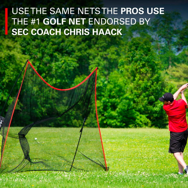 The Haack Golf Net w/ Weighted Swing Tempo Trainer