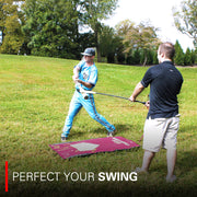 Baseball/Softball Swing Mat with Swing Trainer