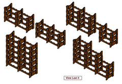 Winerax 48 bottle modular wine rack configuration options (1)