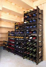 Winerax 162 bottle wine rack - under stair configuration