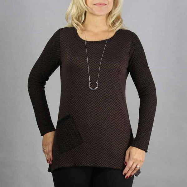 drape mock neck