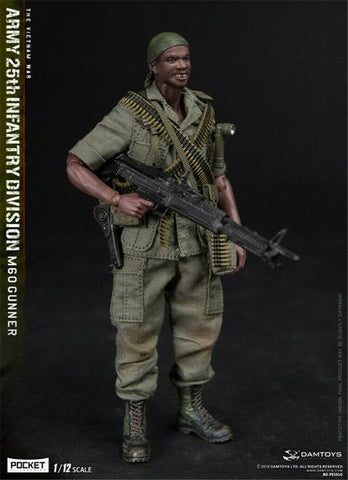 DAM Toys - 1/12 Pocket Elite Series: 25th Infantry Division M60 Gunner